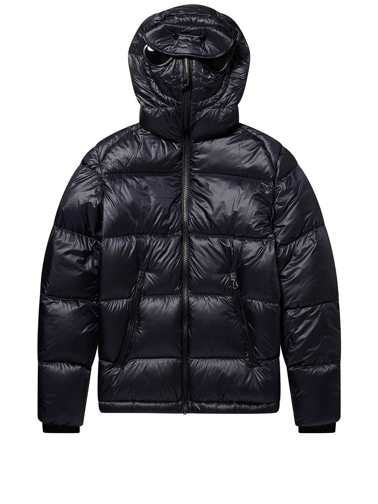 Undersixteen Zip Goggle Hood Puffer Jacket in Total Eclipse