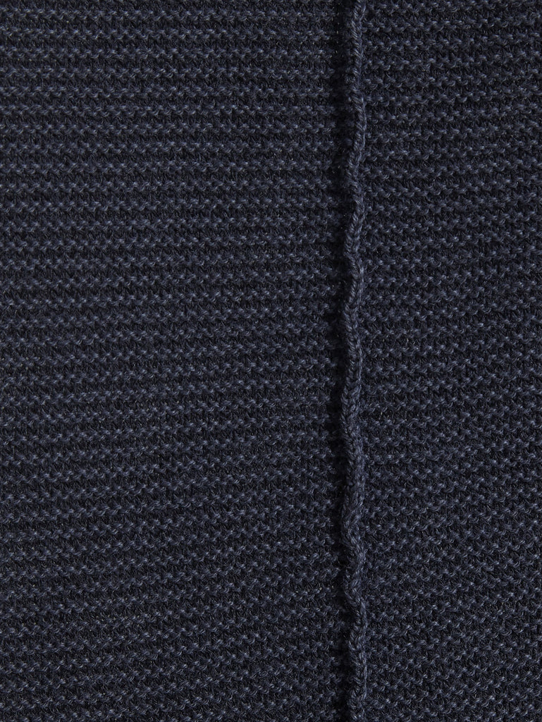 C.P. Company Garment Dyed Cotton Crew Neck Sweater in Navy