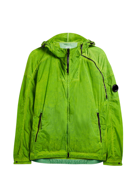 Chrome Re-Colour Hooded Jacket in Primrose Green