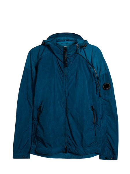 Chrome Re-Colour Hooded Jacket in Hawaiian Ocean