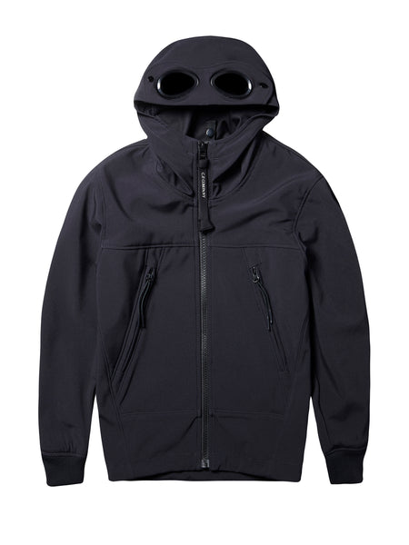 C.P Shell Goggle Hooded Jacket in Total Eclipse