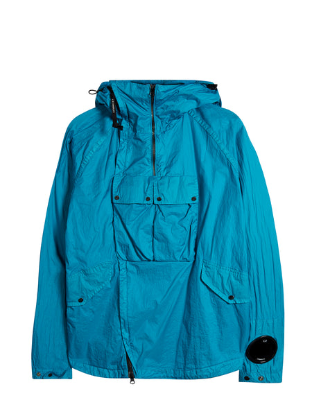 Nyfoil Goggle Double Zip Utility Jacket in Hawaiian Ocean