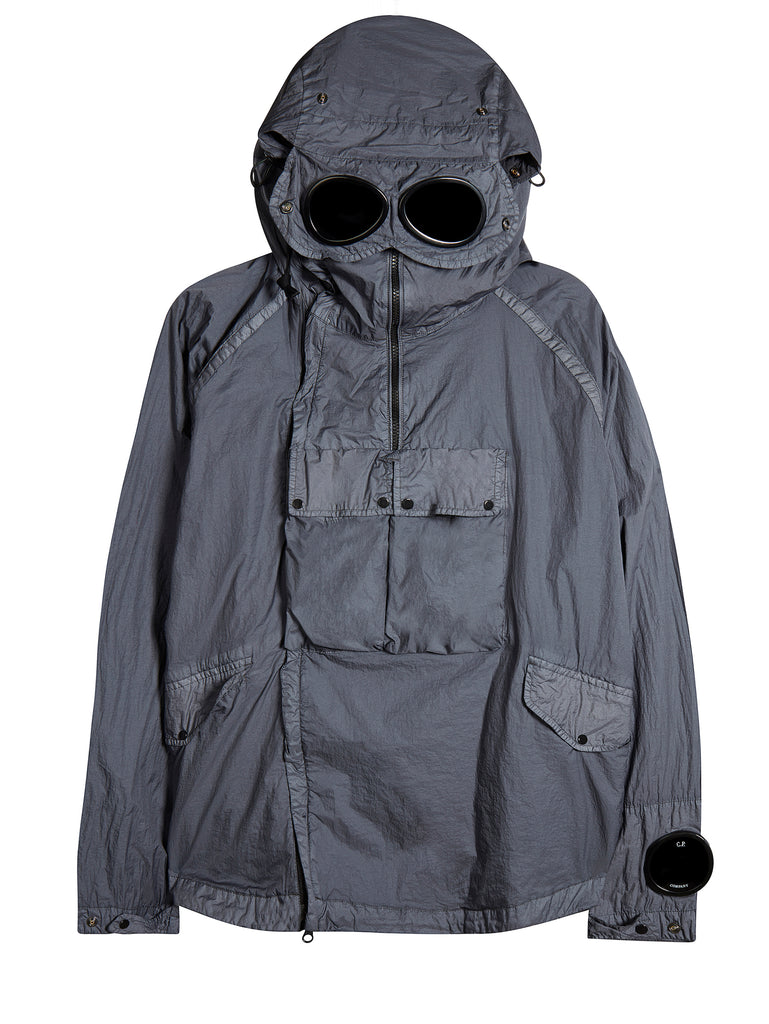 Nyfoil Goggle Double Zip Utility Jacket in Fog Grey