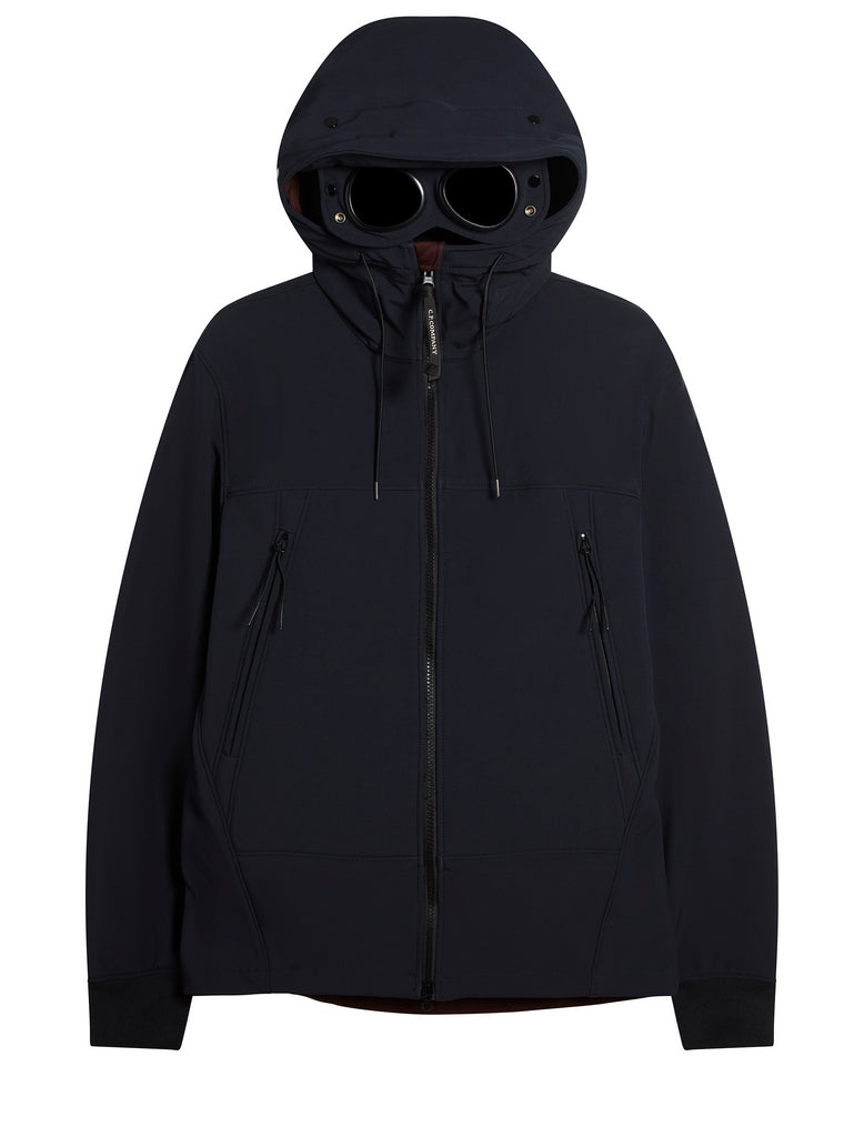 CP Shell Concealed Goggle Jacket in Total Eclipse