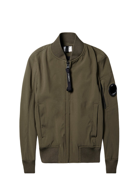 C.P Shell Bomber Jacket in Dark Olive