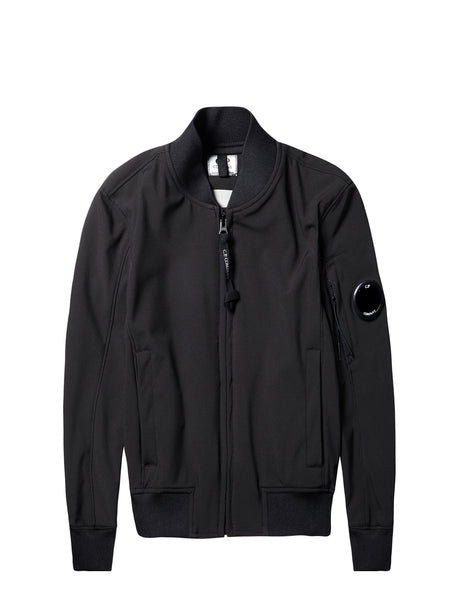 C.P Shell Bomber Jacket in Caviar Black