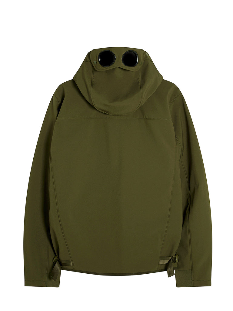 C.P. Shell Goggle Hood Utility Jacket in Ivy Green