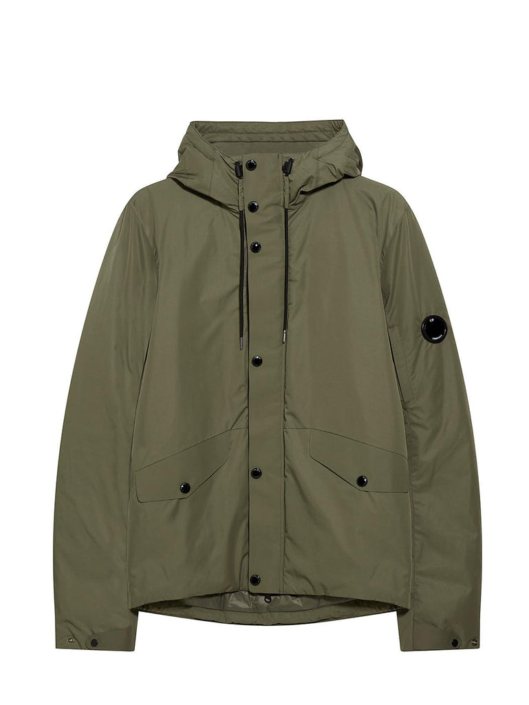 Micro-M Lens Sleeve Hooded Jacket in Sage
