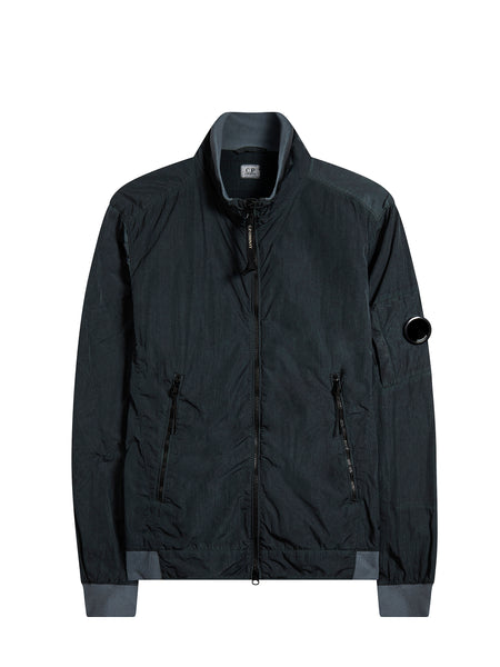 Chrome Re-Colour Bomber Jacket in Raven Grey
