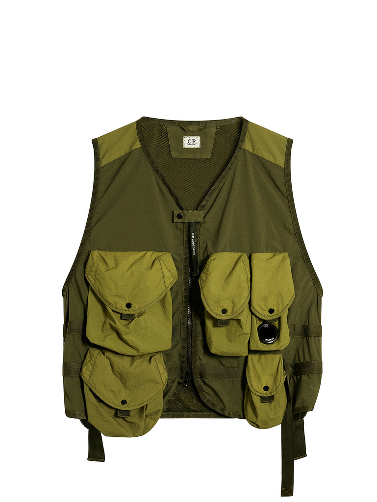Utility Vest in Ivy Green