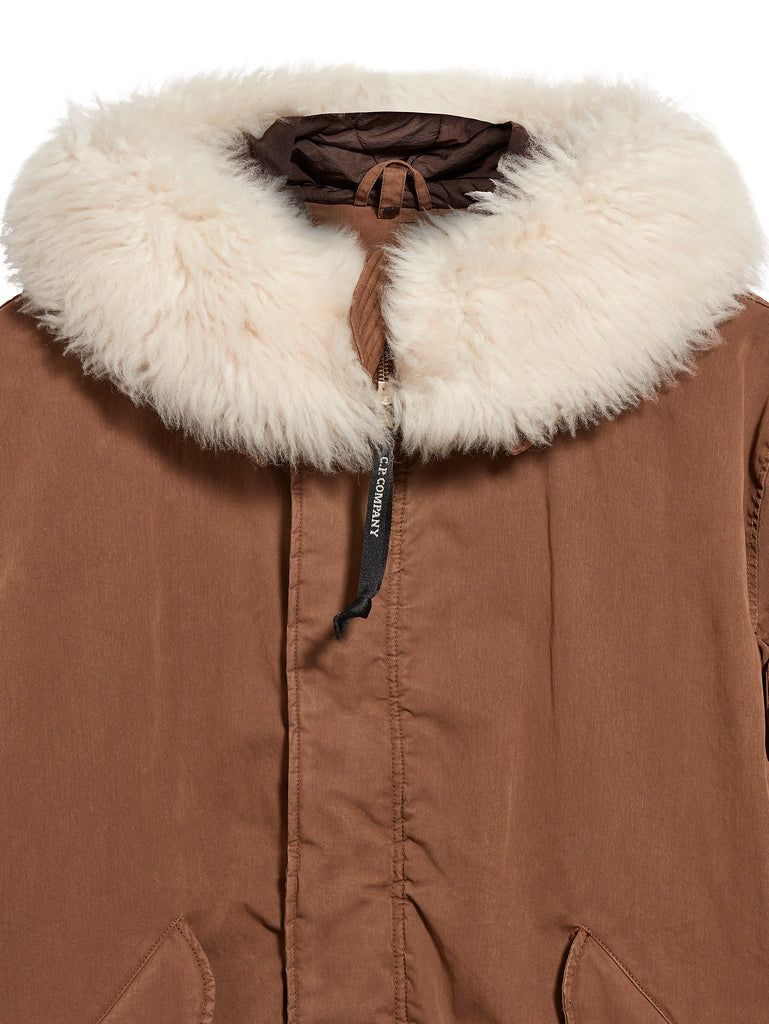 50 Fili Wool Hood Parka in Ermine Brown