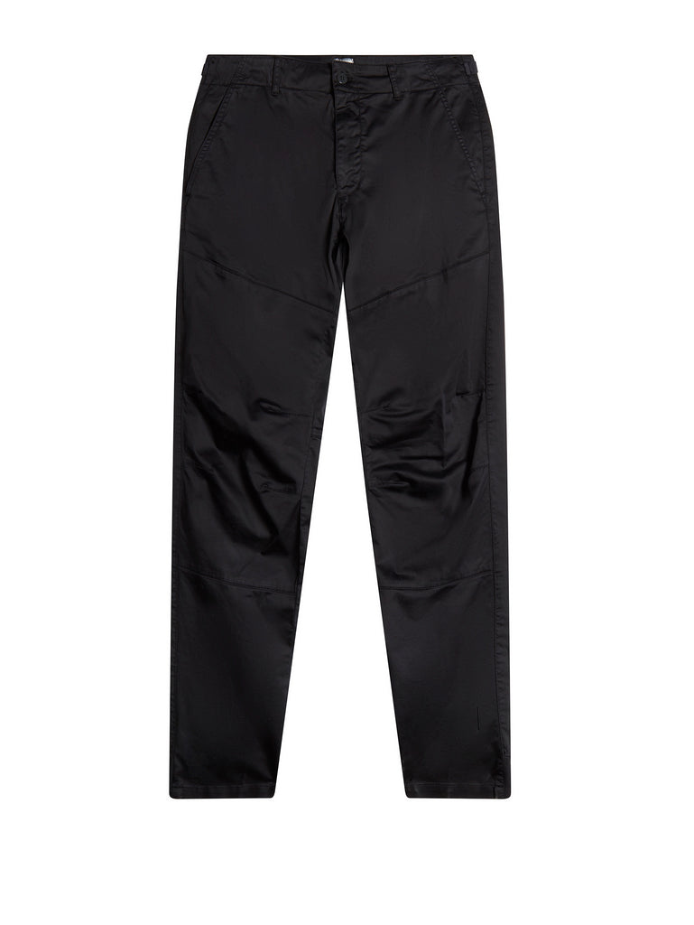 Garment Dyed Stretch Sateen Chino in Total Eclipse