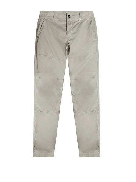 Garment Dyed Stretch Sateen Chino in Paloma Grey