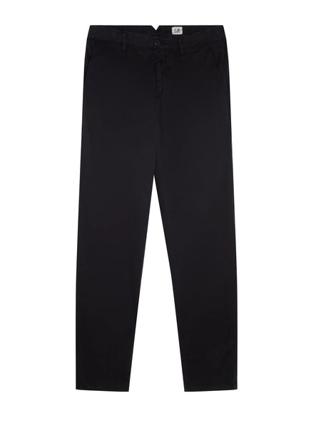 Garment Dyed Gabardine Trousers in Total Eclipse