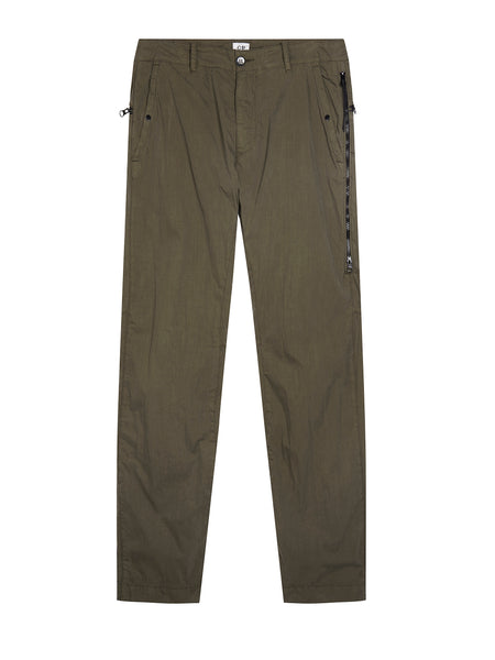 Garment Dyed 50 Fili Peach Trouser in Dark Olive