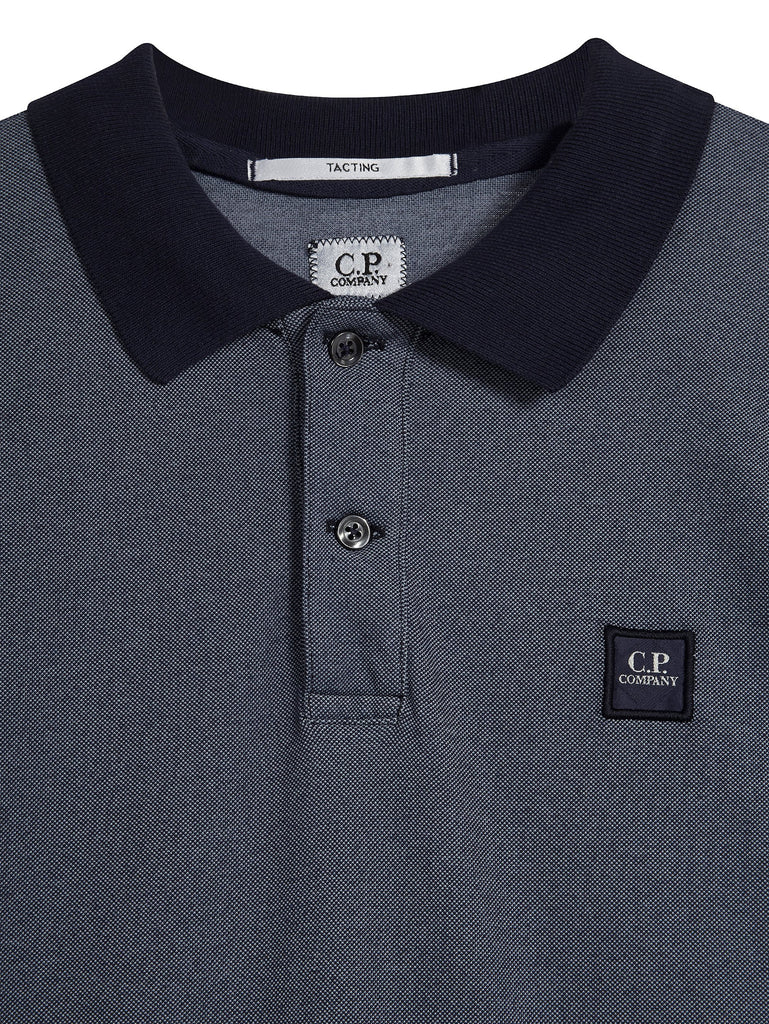 C.P. Company Regular Fit Contrast SS Polo Shirt in Navy