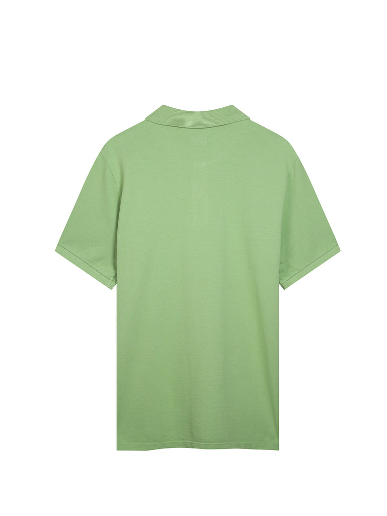 Cotton Pique Regular-Fit Polo Shirt in Kiwi