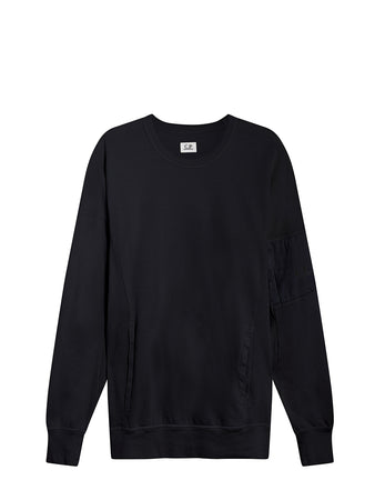 Garment Dyed Light Fleece Utility Sweat in Total Eclipse
