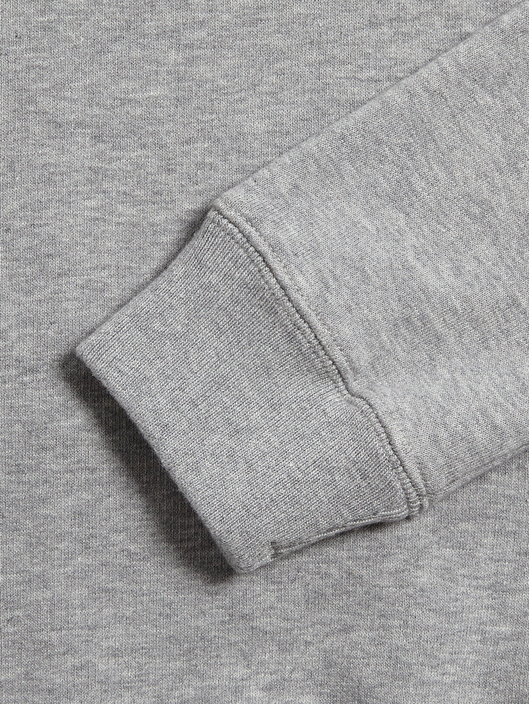 Undersixteen Basic Fleece Lens Sweatshirt in Grey Melange