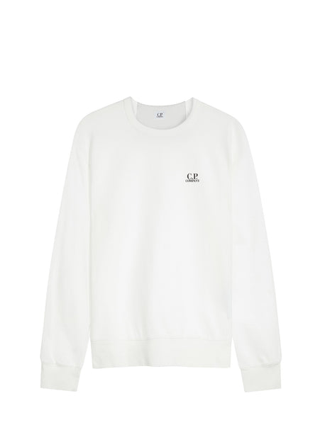 C.P. Company Crewneck LS Sweatshirt in White