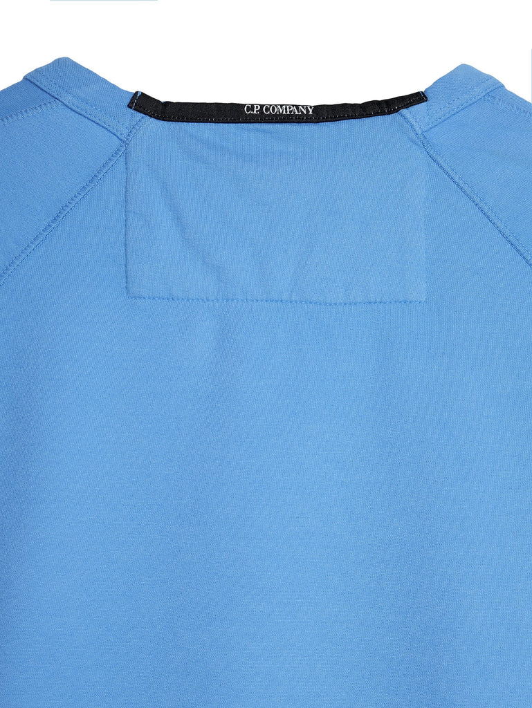 C.P. Company Crewneck LS Sweatshirt in Light Blue
