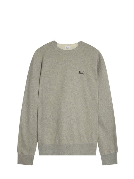 C.P. Company Crewneck LS Sweatshirt in Grey