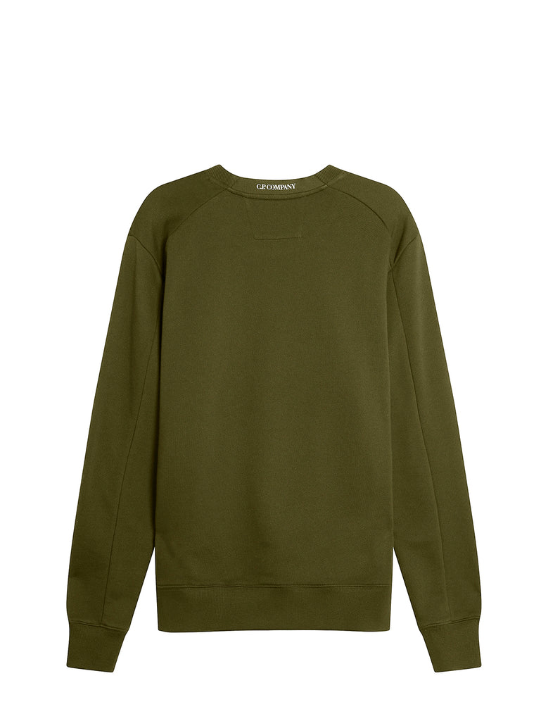 Diagonal Raised Fleece Urban Protection Series Logo Sweat in Ivy Green