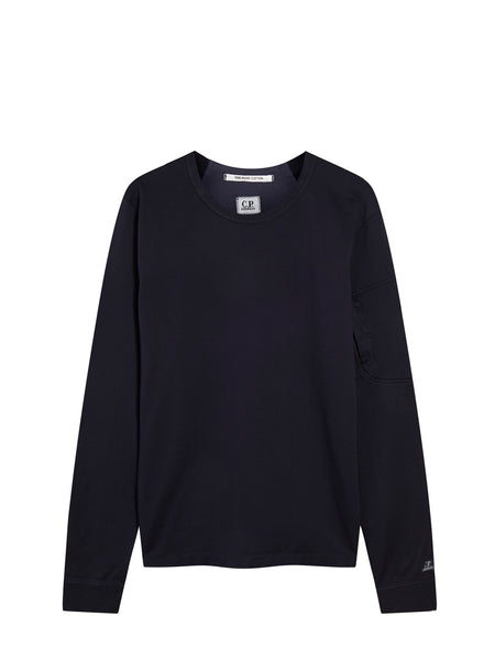 Garment Dyed Pocket Sleeve Sweatshirt in Total Eclipse