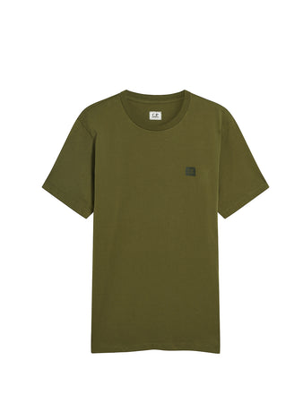 Jersey 30/1 Logo Badge T-Shirt in Ivy Green