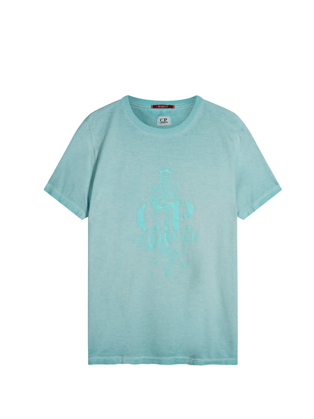 Sailor Print Makò Cotton T-Shirt in Blue Radiance