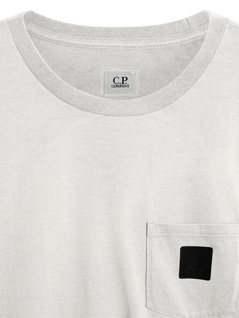 Jersey 30/1 Wrap Graphic T-Shirt in Gauze White