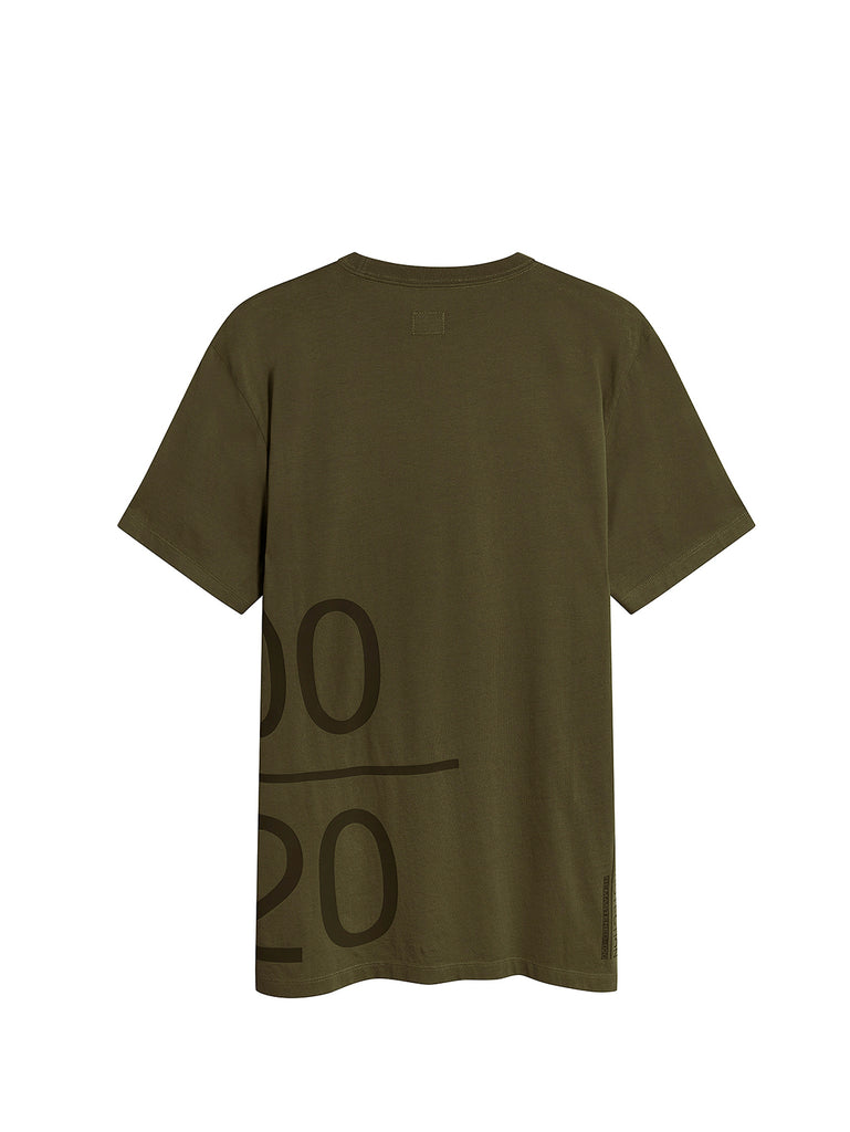 Jersey 30/1 Wrap Graphic T-Shirt in Ivy Green