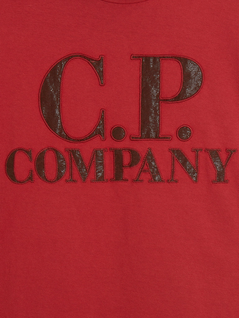 P.Ri.S.M. Garment Dyed Long Sleeve T-Shirt in Red