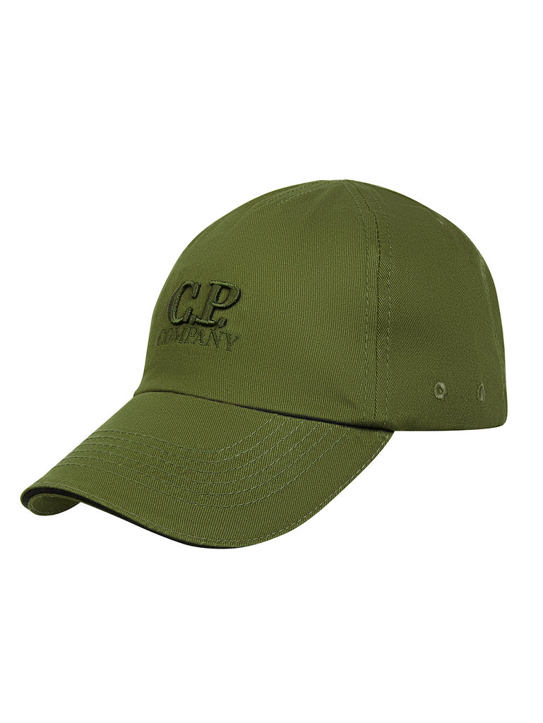 Embroidered Logo Baseball Cap in Dark Olive