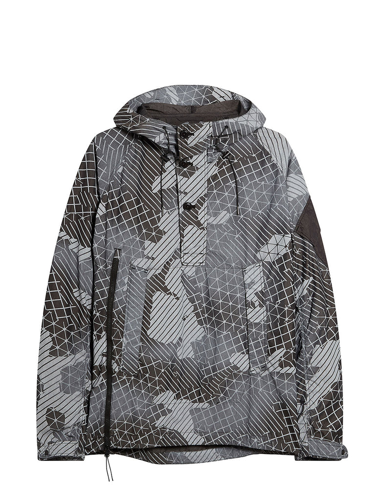 50 Fili Camo Pull Over Hooded Jacket in Black