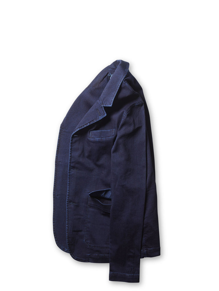 ISKO Stretch Jersey Blazer in Indigo
