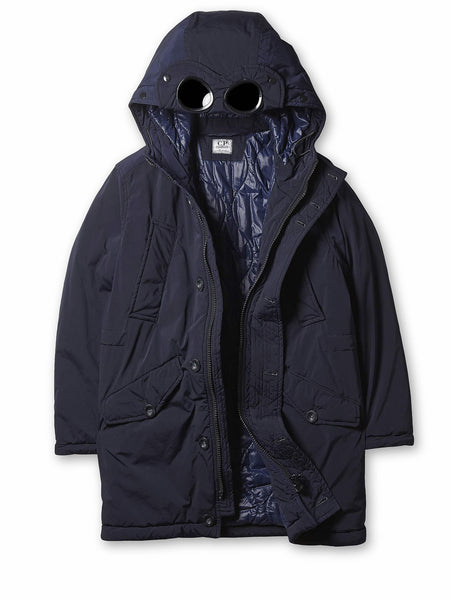 Undersixteen Padded Goggle Parka in Navy Blue