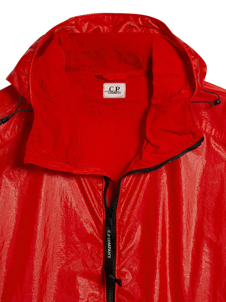 Cristal Hooded Lens Jacket in Poinciana