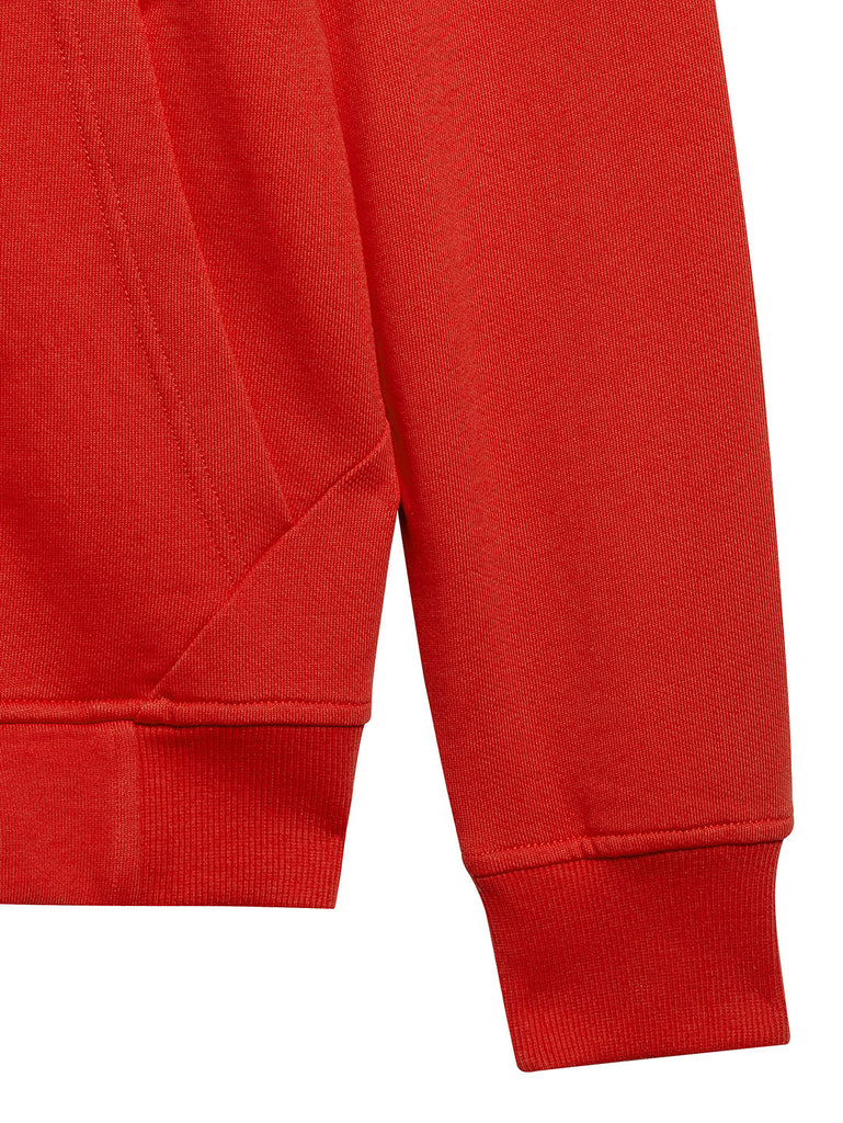 Diagonal Fleece Goggle Sweatshirt in Poinciana