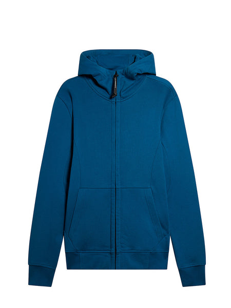 Diagonal Fleece Goggle Sweatshirt in Moroccan Blue