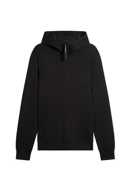 Diagonal Fleece Goggle Sweatshirt in Black