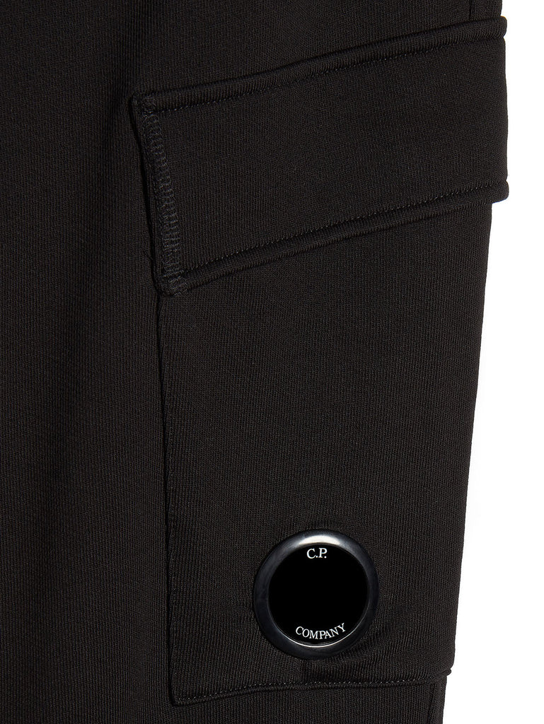 Diagonal Fleece Lens Pocket Sweatpant in Black