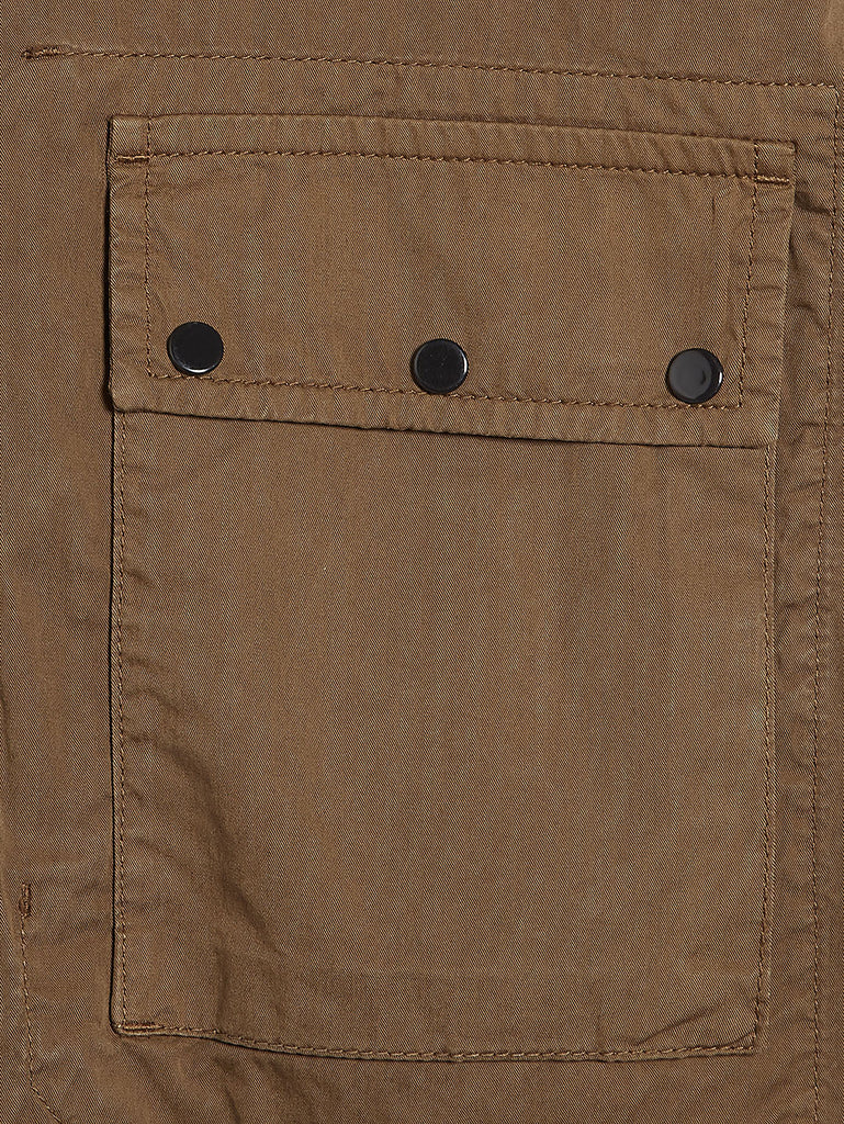 Gabardine Zip Overshirt in Beech