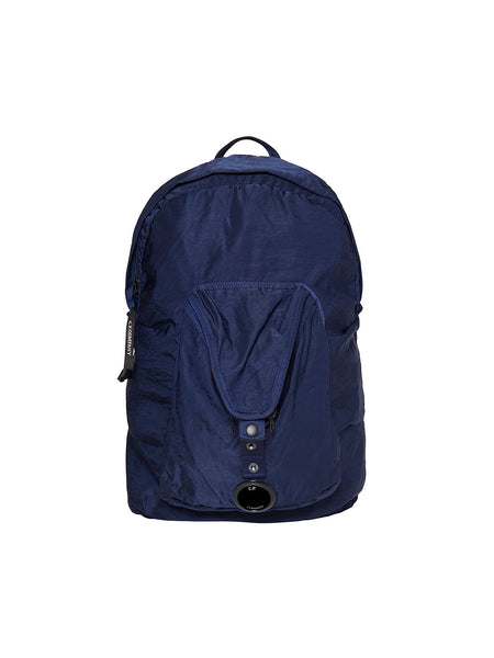 Garment Dyed Nylon Sateen Lens Backpack in Estate Blue
