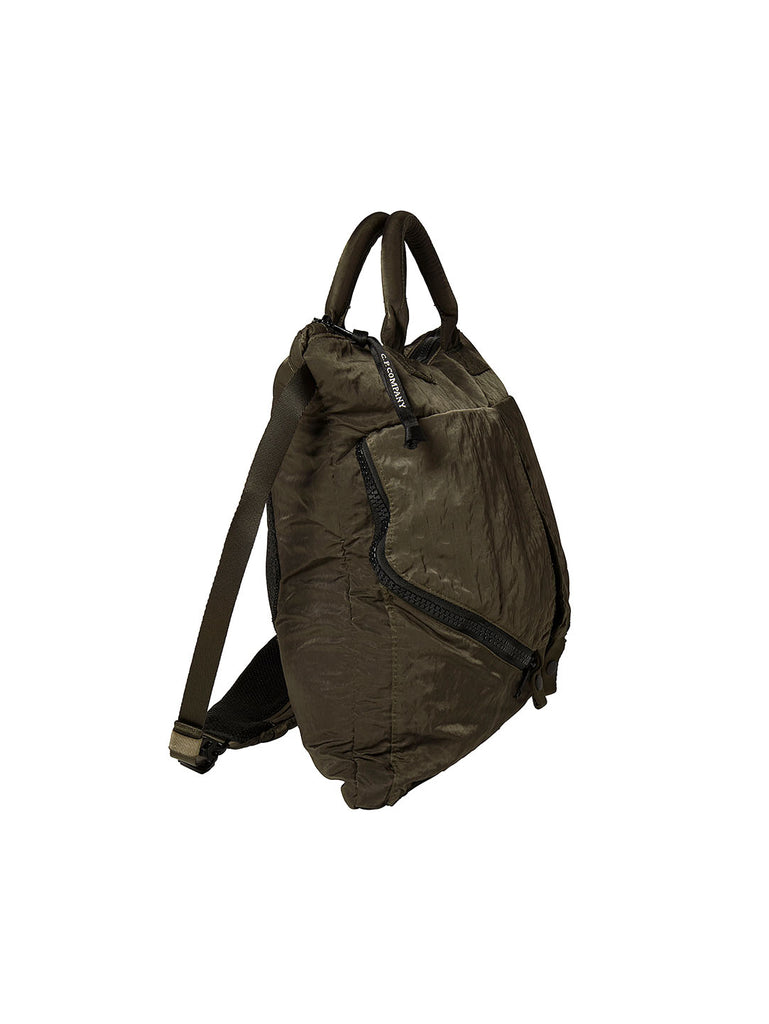 Garment Dyed Nylon Sateen Tote Bag in Tarmac
