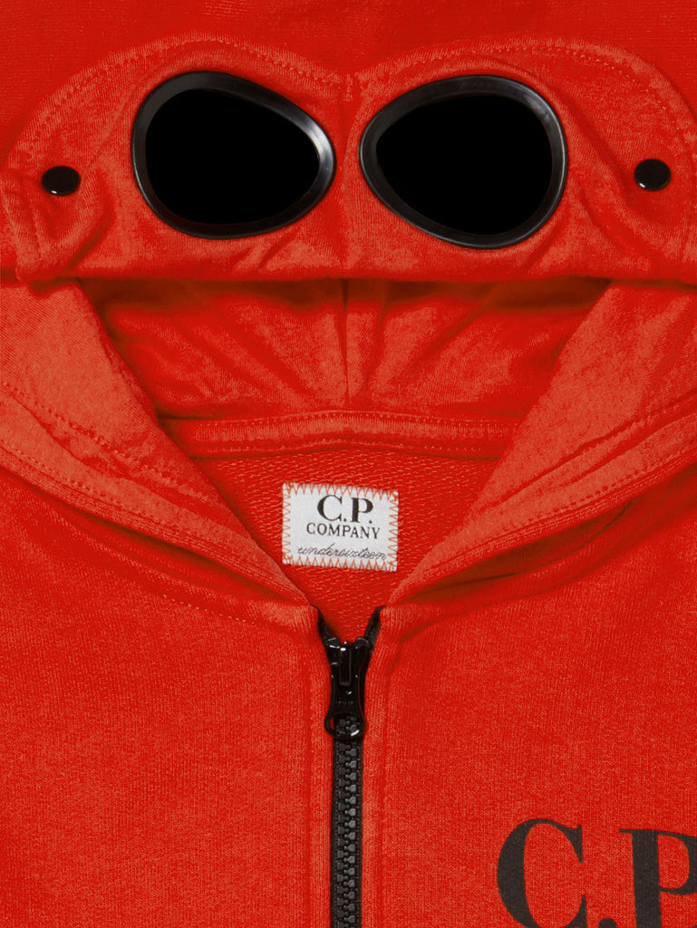 Undersixteen Google Hood Zip Sweatshirt in Poinciana
