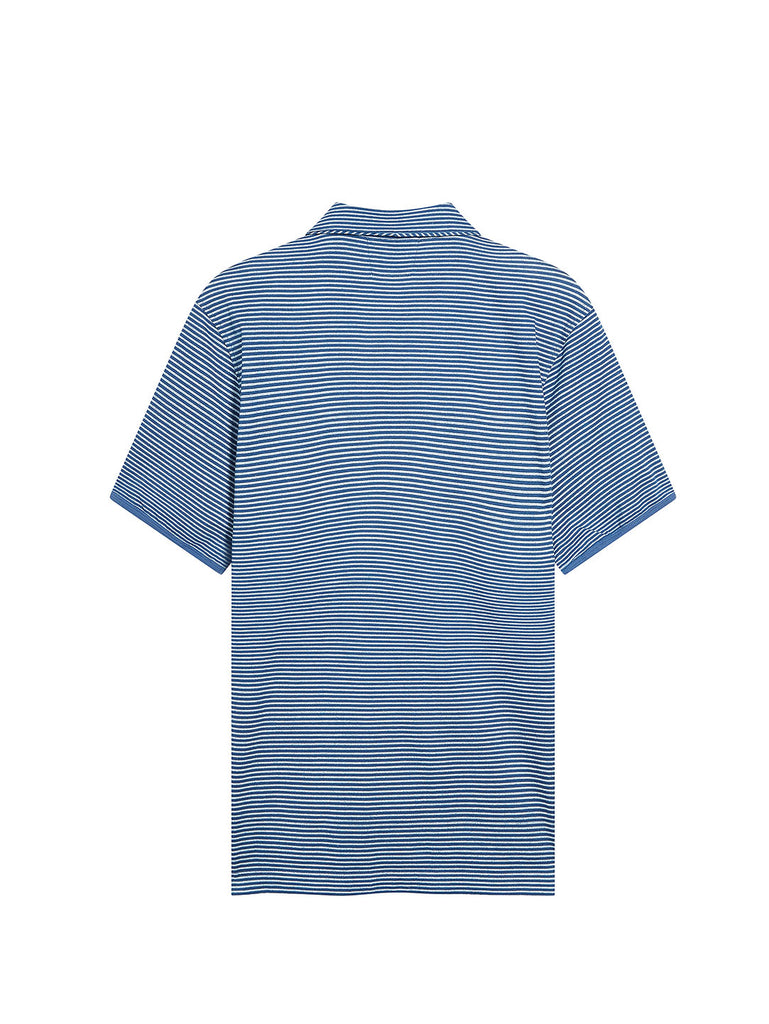 Jersey 24/1 Polo Shirt in Moroccan Blue