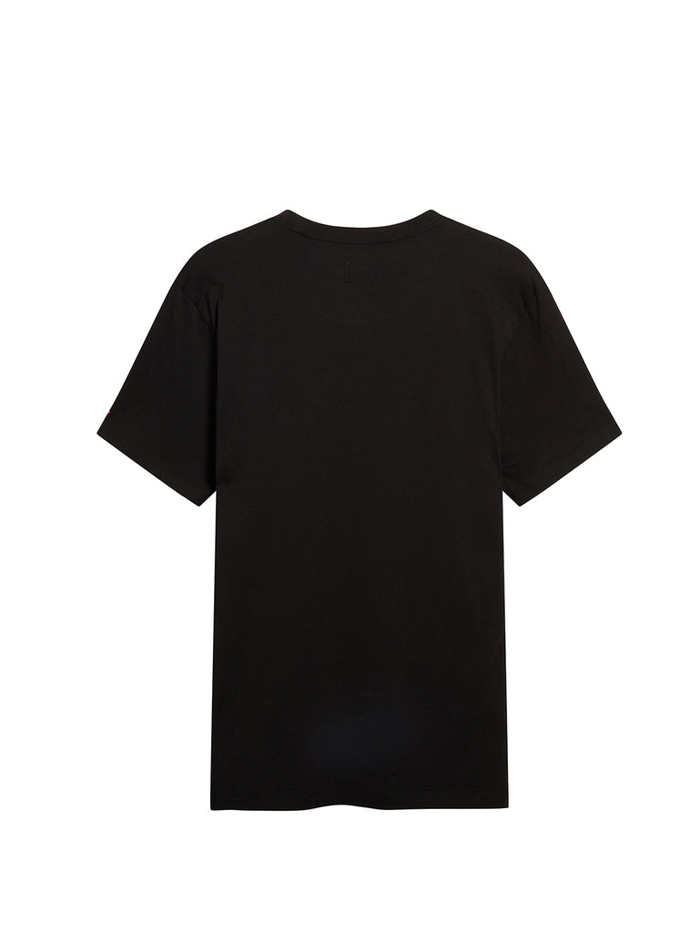 Jersey 30/1 Button Print Crew T-Shirt in Black