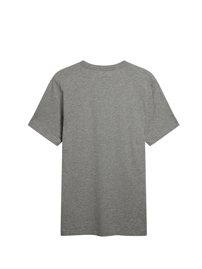 Jersey 30/1 Mini Vintage Logo Print Crew T-Shirt in Grey