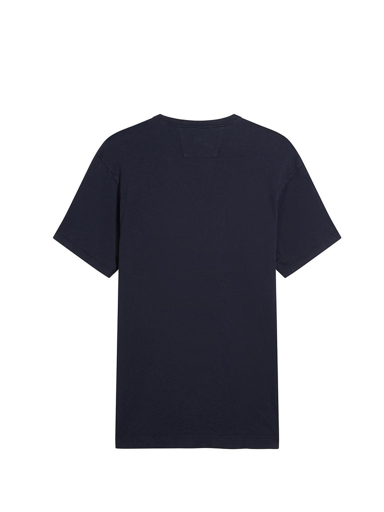 Malfilé Jersey Contrast Pocket T-Shirt in Total Eclipse